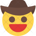 Grinning Cowboy Icon