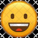 Grinning Face Emoji Emoticon Icon