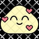 Grinning Heart Grin Heart Emoji Icon
