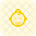 Grinning Squinting Baby Icon