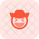Grinning Squinting Cowboy Icon
