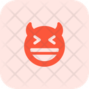 Grinning Squinting Devil Icon