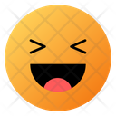 Grinning Squinting Face Emoji Face Icon