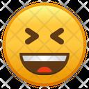 Grinning Squinting Face Emoji Emoticon Icon