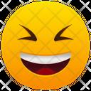 Grinning Squinting Face Emoji Emotion Icon