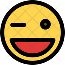 Grinning Winking Icon