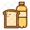 Bread Loaf Milk Bottle Icon