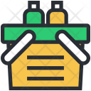 Grocery Basket Hand Icon