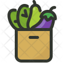 Grocery Bag Vegetable Icon