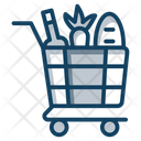 Grocery Food Shopping Food Cart Icon