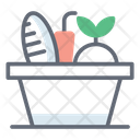 Food Bucket Fruits Bucket Grocery Icon