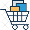 Grocery Shopping Trolley Icon