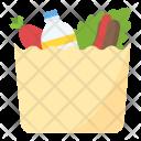 Groceries Paper Bag Supermarket Icon