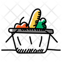 Foodstuff Grocery Grocery Bucket Icon