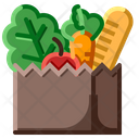 Grocery Bag Food Fruit Icon