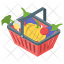 Shopping Grocery Bucket Grocery Basket Icon