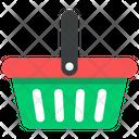 Grocery Basket Shopping Bucket Basket Icon