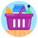 Food Bucket Grocery Grocery Basket Icon