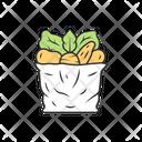 Grocery Basket Vegetables Basket Vegetables Icon