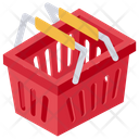 Grocery Basket Handbasket Icon
