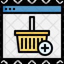 Grocery Cart Basket Buying Cart Icon
