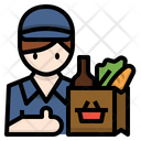 Grocery man Icon