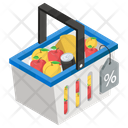 Grocery Shopping Grocery Buying Fruit Bucket Icon