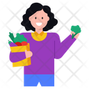 Grocery Grocery Shopping Vegetables Shopping Icon