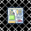 Drive Thru Shop Icon