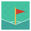Ground Corner Flag Icon
