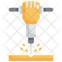 Jackhammer Drill Machine Icon