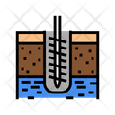 Ground Drilling Color Icon