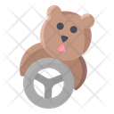 Groundhog Feeding Icon