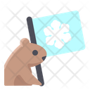Groundhog Holding Flag Icon