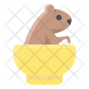 Groundhog In Bowl Icon