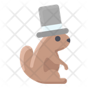 Groundhog Wearing Hat Icon