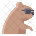 Groundhog Wearing Sunglasses Icon