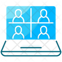 Group Call Team Meeting Video Conference Icon