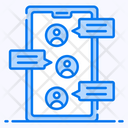 Group Chat Messaging Mobile Communication Icon