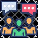 Group Discussion Conversation Communication Icon