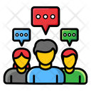 Group Discussion Speech Bubbles Coworkers Consulting Icon