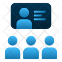 Group Discussion Teaching Learning Icon