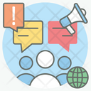 Group Discussion Forum Discussion Group Communication Icon