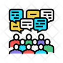 Group Discussion Public Discussion Icon