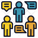 Group Discussion Teamwork Icon