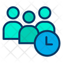 Meeting Time Team Time Icon
