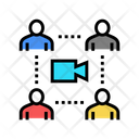 Group Video Calling Icon