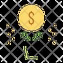 Grow Profit Plant Icon