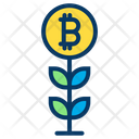 Growth Bitcoin Plant Plant Icon