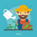 Grow Agriculture Farm Icon